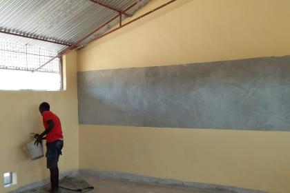 pintando las aulas
