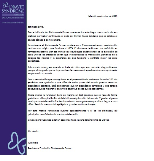 Carta De Agradecimiento Fundacion Vipeika