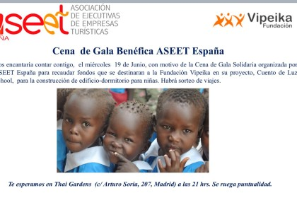 ASEET España hacen una cena a beneficio de Fundación Vipeika